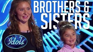 Video When Brothers & Sisters Audition On American Idol! MP3, 3GP, MP4, WEBM, AVI, FLV Agustus 2018
