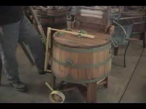 Washing Machine Museum – manually operated simple machines with cranks, pulleys, levers, and gears