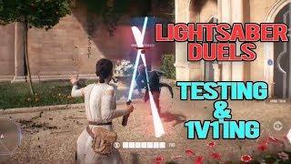 Video STAR WARS BATTLEFRONT 2: LIGHTSABER DUELS - HOW DO THEY WORK? (Testing & 1v1's) MP3, 3GP, MP4, WEBM, AVI, FLV Oktober 2017
