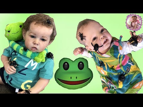 REBORN TODDLER MISCHIEF! WHAT DID MITCHELL DO?  (Theme Thursday - FROGS!!)