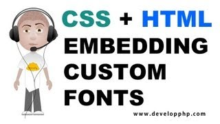 CSS HTML Embed Custom Font Tutorial For Cool Special Epic Web Site Text