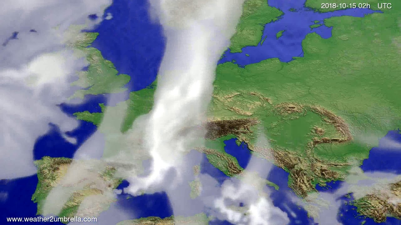 Cloud forecast Europe 2018-10-11