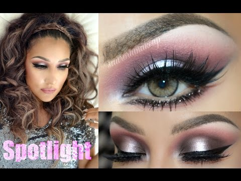 @auroramakeup -Rosa Y Gris GLAM (SPOTLIGHT In PINK & GRAY Makeup)