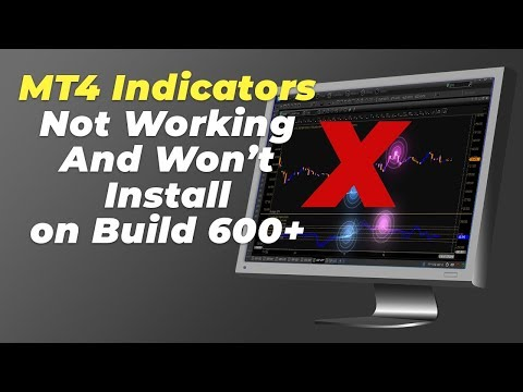 MT4 Trading Indicators Not Working and Won't Install on MT4 Build 600?