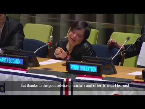 "Watch video Marta Sodano - ""Leave no one behind in Education"" Conference - United Nations"