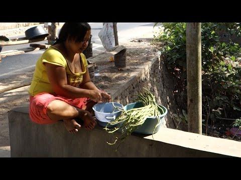 Sambal goreng kacang panjang and mie - Spicy green beans with noodles