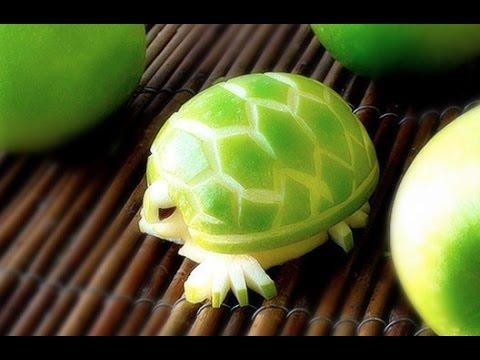 Карвинг по яблоку - вырезаем черепаху!
