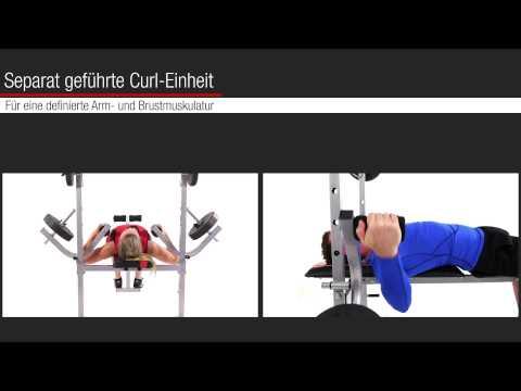 Hammer 45042 Hantelbank Bermuda inkl. 25 kg Gewichte - Fitness - Krafttraining