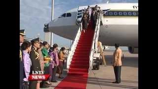 Sirinthon Thailand  city images : Lao NEWS on LNTV: Thai Princess Maha Chakri Sirindhorn arrives in Vientiane.30/6/2015