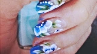 One Stroke Painting Spring or prom nails