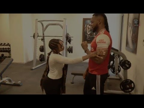 Moment's Flavour Kiss Chidinma In The Gym [Bestie Moment's 😍]
