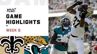 Saints vs. Jaguars Week 6 Highlights   NFL 2019