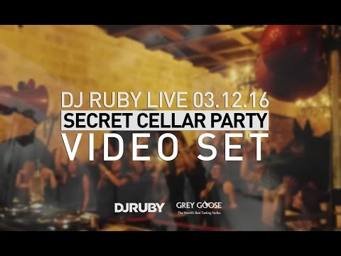 DJ Ruby Live Video Set at Secret Cellar Party, Malta 03-12-16