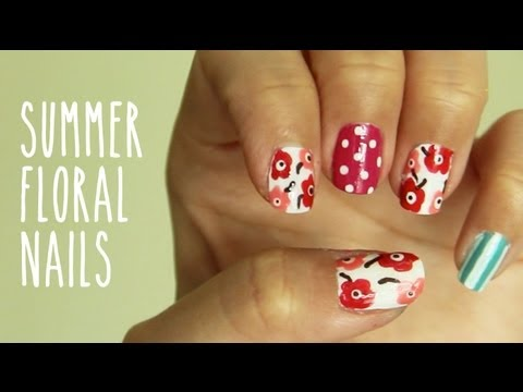 Video Of The Week: Floral Nails
