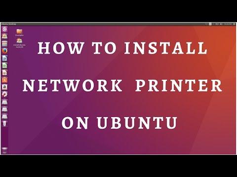 How to install network printer on ubuntu 17.04,16.04,14.04,12.04
