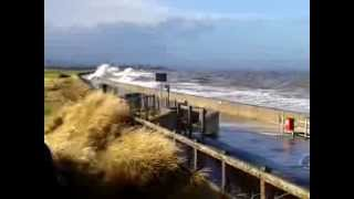 Prestatyn United Kingdom  City pictures : Prestatyn Rhyl 3.1.2014 - UK Wales Tidal Wave Surge Flood high tide waves