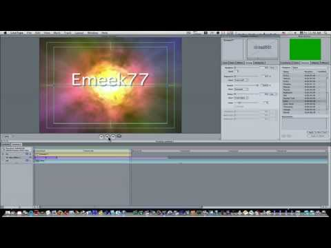 livetype - How to make and save custom effects in LiveType.