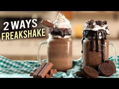 2 BEST FREAKSHAKE RECIPES | Kitkat Freakshake | Oreo Freakshake | Summer Desserts | Varun