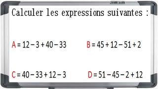 Maths 5ème - Les enchaînements d'opérations Exercice 2