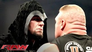 Brock Lesnar becomes the victim of a chokeslam from the returning Undertaker. More ACTION on WWE NETWORK ...