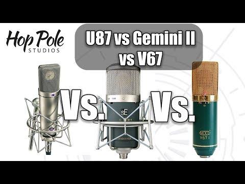 U87 Vs Gemini II Vs MXL V67i - Mic Shootout on vocals