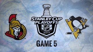 Penguins blank Senators in Game 5 for 3-2 series lead