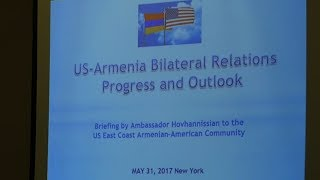 USA – Armenia Bilateral Relations: Progress and Outlook
