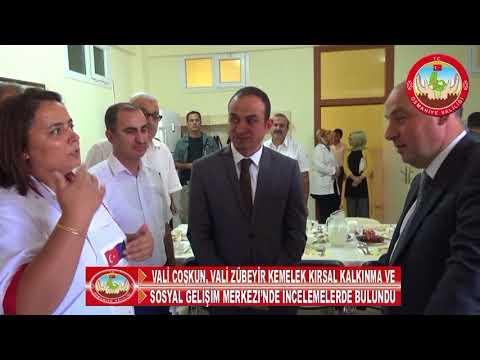 Vali Coşkun, sosyal gelişim merkezinde incelemelerde bulundu