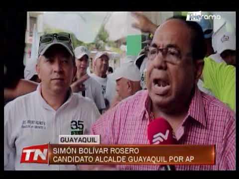 Candidatos Simón Bolívar Rosero y Gino Cornejo recorrieron sectores
