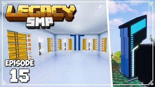 TRON INSPIRED AUTOMATIC STORAGE ROOM! - Legacy SMP (Minecraft 1.15 Survival)