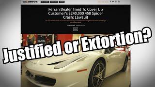 Ferrari Dealer Crashes Customer Car gets Sued For $1 Million Dollars by Super Speeders