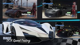 This is a series where I take fully upgraded vehicles down a 3 mile straight track to find the best average between acceleration and top speed for each vehicle.Spreadsheet with all Speed Testing and Track Testing Times: https://drive.google.com/open?id=0BwsBl6w3xLd4akEwSFZlLVJZNzQTrack Testing Playlist: https://www.youtube.com/playlist?list=PLx3oIexD1GjGJSB89AdRWCbBLci2jlqlRLink to my race: https://socialclub.rockstargames.com/games/gtav/jobs/job/zCweBFvMWE2xKYpmFM8frw?platformId=11All Super Cars used in Testing:Grotti X80 ProtoProgen Itali GTB CustomPfister 811Bravado Banshee 900RDewbauchee VagnerProgen Itali GTBVapid FMJTruffade Nero CustomProgen TyrusPegassi OsirisTruffade NeroProgen T20Annis RE-7BProgen GP1Truffade AdderPegassi ZentornoPegassi TempestaPegassi ReaperOverflod Entity XFGrotti Turismo ROcelot PenetratorPegassi InfernusEmperor ETR1Karin Sultan RSGrotti CheetahPegassi VaccaCoil VolticVapid BulletSong: Malik Bash - Ghosts [NCS Release] Music provided by NoCopyrightSounds.Watch: https://youtu.be/-9Z5Nhsm7GADownload/Stream: http://ncs.io/GhostsCr