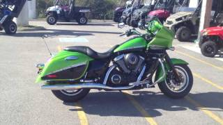 5. 2012 Kawasaki Vulcan 1700 Vaquero Candy Lime Green and Black