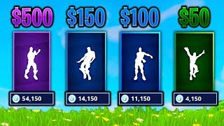 GUESS THE DANCE VBUCKS CHALLENGE in Fortnite Battle Royale (IMPOSSIBLE)