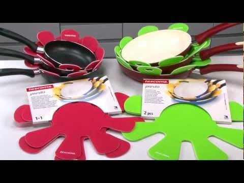 Видео Полезные приспособления Tescoma Tescoma Вкладыш между сковородок PRESTO, малый и большой, 2 шт Tescoma 420884
