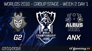G2 vs ANX - World Championship 2016 - Group Stage Week 2 Day 1