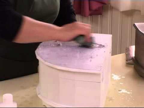 Transfer tekniği Ahşap boyama efektleri