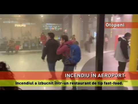 """Incendiu violent, într-un restaurant din Aeroportul """"Henri Coandă"""""""