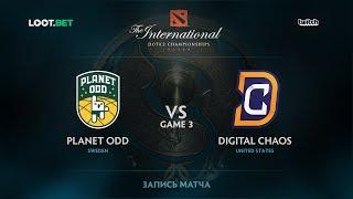 Planet Odd vs DC, Game 3, The International 2017 NA Qualifier