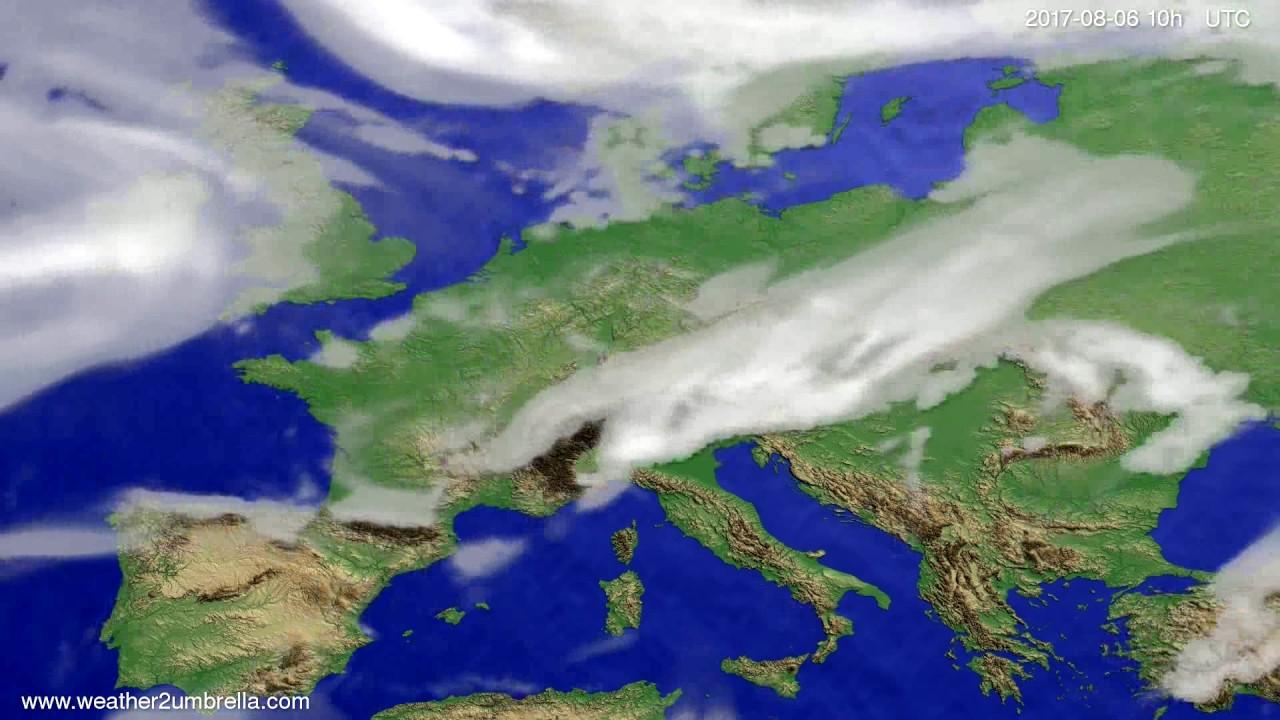 Cloud forecast Europe 2017-08-04