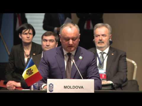 Președintele Republicii Moldova a rostit un discurs în cadrul Summitului Aniversar al Organizației Cooperării Economice a Mării Negre