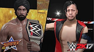 After Shinsuke Nakamura won his match against John Cena on SmackDown Live, Nakamura will now challenge Jinder Mahal for the WWE Championship at WWE SummerSlam 2017!Show some love by leaving a like, sharing and subscribing for more awesome videos like these!OUTRO MUSIC: Undertaker's Rollin Theme Cover by JAYDEGARROWJAYDEGARROW's YouTube: https://www.youtube.com/channel/UCit4zHRRYaU5Og8ZHqvA7jQFOLLOW ME HERE:Facebook: https://www.facebook.com/julian.rosado.14Twitter: https://twitter.com/Jules1451Instagram: https://www.instagram.com/jules1451/Snapchat: @Jules1451Want to see more WWE 2K16 & WWE 2K17 Content? Visit this link for more! http://www.thesmackdownhotel.com