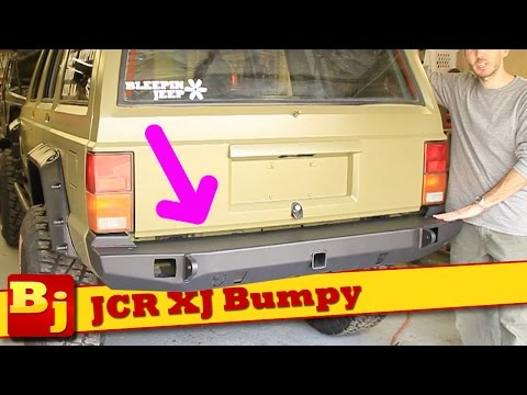 Install a JCR Rear Tire Carrier Bumper on an XJ