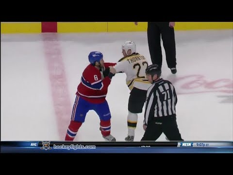 Shawn Thornton vs Brandon Prust Dec 5, 2013