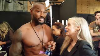 Backstage with Tyson at Michael Costello