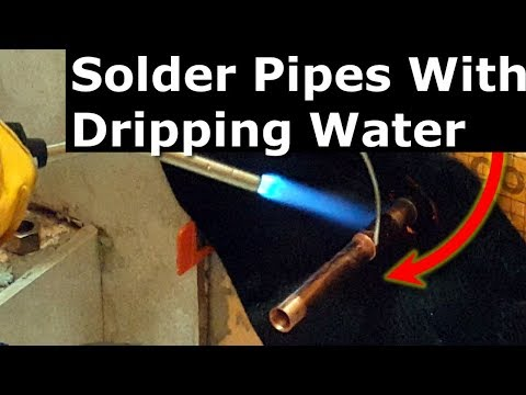 How To Solder Copper Pipes With Water In It: Plumber's Bread Trick