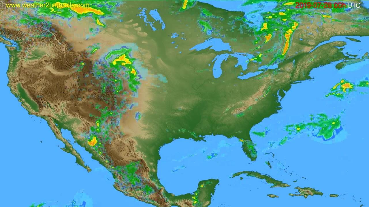Radar forecast USA & Canada // modelrun: 12h UTC 2019-07-27