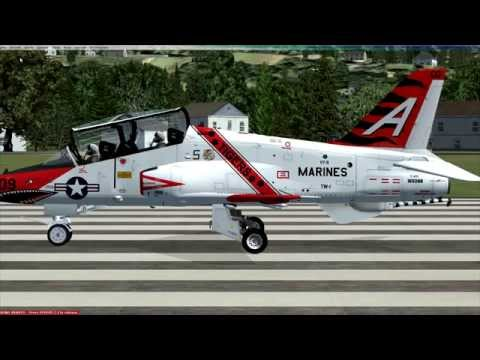 FSX Freeware Amazing T-45 Goshawk Review (Aircraft By Dino Cattaneo)