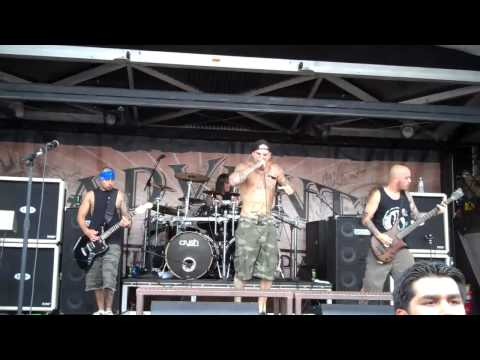 Winds of Plague- Intro and refined in the fire  live @ Warped Tour 2011 ( Oceanport New Jersey)