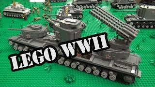 LEGO Fictional Russian WWII Tanks | World War Brick 2017